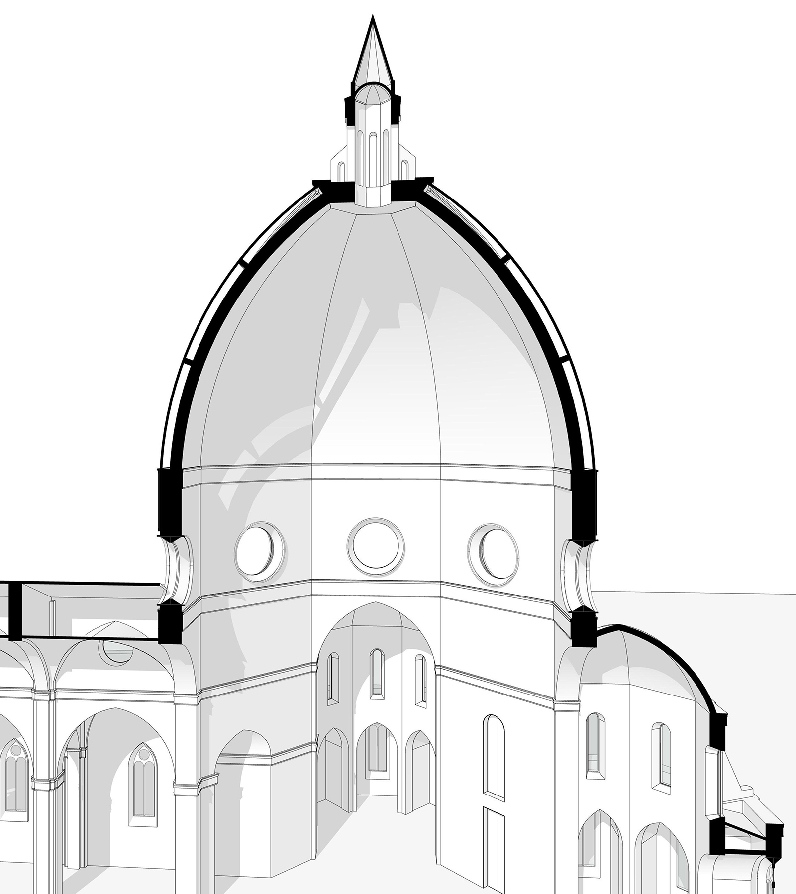 sezione-cupola-brunelleschi