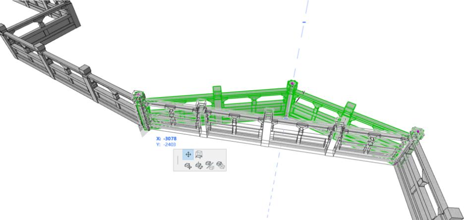 Liuzhou - ringhiera parametria - dettaglio in 3D