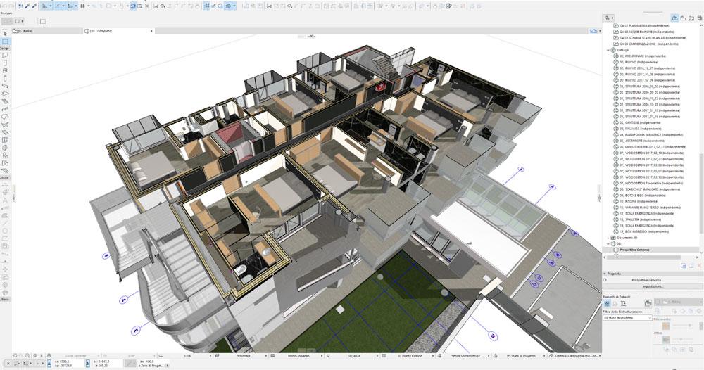 GRAPHISOFT - d.vision hotel aida - schermata in ARCHICAD