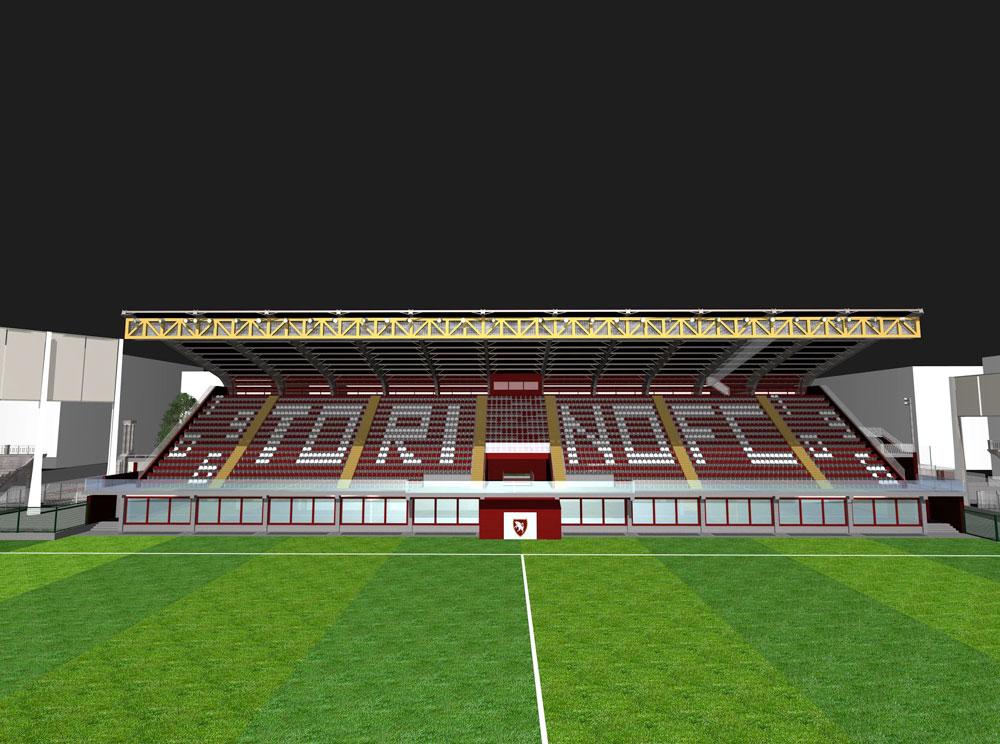 Progeco - stadio filadelfia tribuna 3D