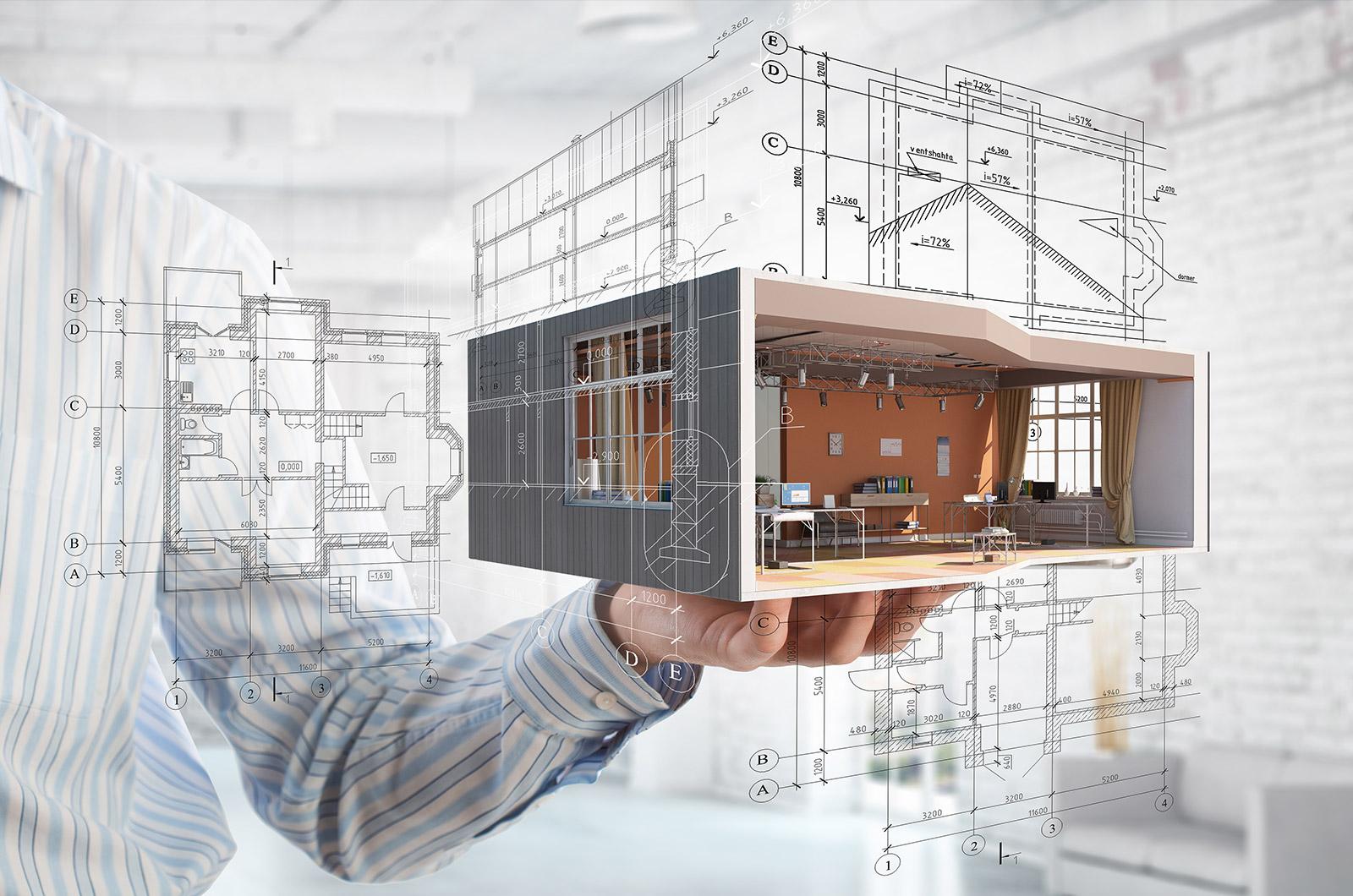 concetto ristrutturazione d'interni bim